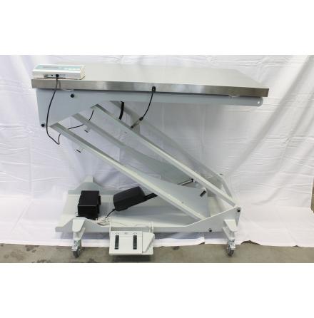 Undersökningsbord med våg elektriskt 60x120cm rostfri skiva