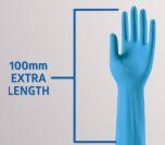 Undersökningshandske Nitril  S Sensicare Pro 400mm/50
