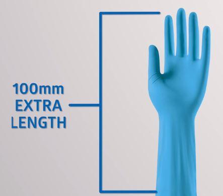 Undersökningshandske Nitril  L Sensicare Pro 400mm/50