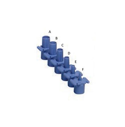 intuberingsnippel plast 5,0mm