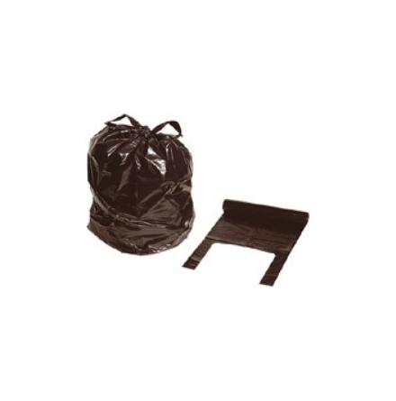 Sopsäck med knythandtag svart 125L /10