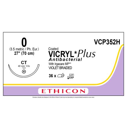 Vicryl Plus 0 CT 70cm VCP352H