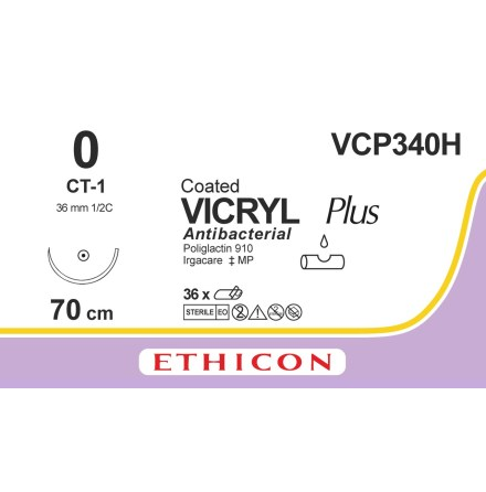 Vicryl Plus 0 CT-1 70cm VCP340H
