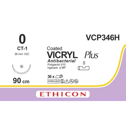 Vicryl Plus 0 CT-1 90cm VCP346H