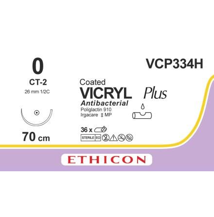 Vicryl Plus 0 CT-2 70cm VCP334H