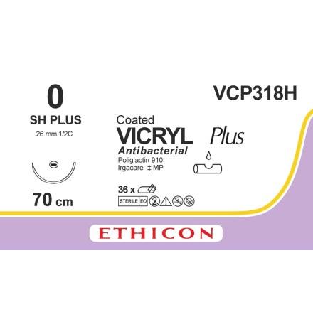 Vicryl Plus 0 SH 70cm VCP318H
