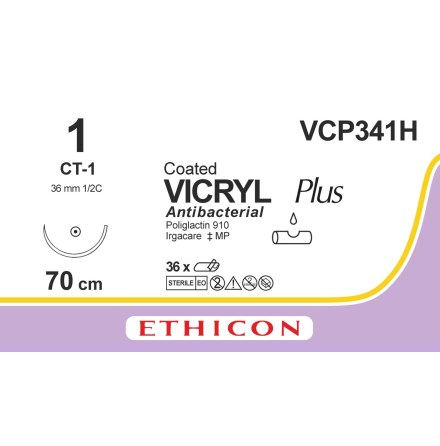 Vicryl Plus 1 CT-1 70cm VCP341H