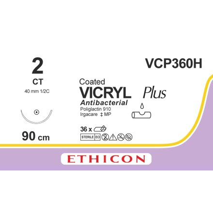 Vicryl Plus 2 CT 90cm VCP360H
