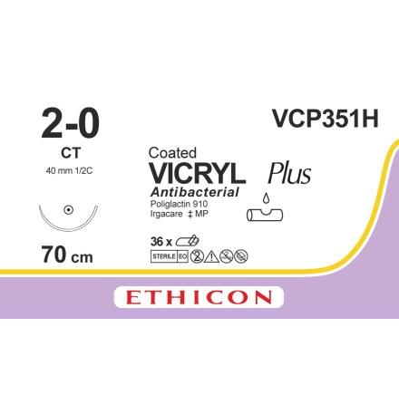 Vicryl Plus 2-0 CT 70cm VCP351H