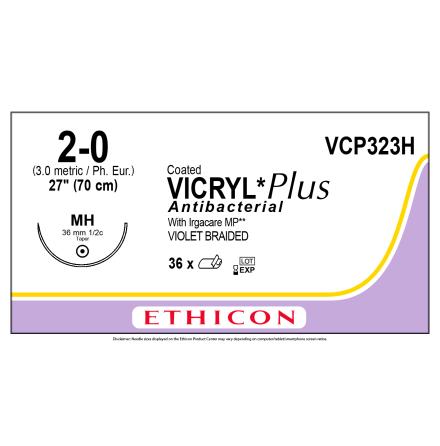 Vicryl Plus 2/0 MH 70cm VCP323H