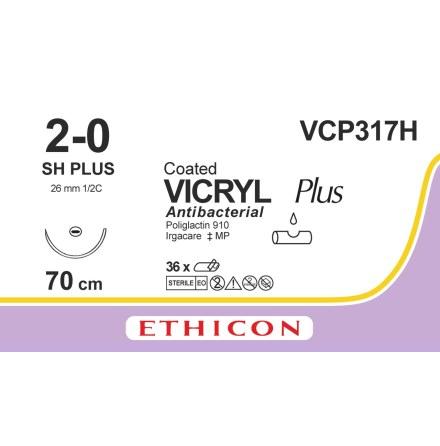 Vicryl Plus 2/0 SH 70cm VCP317H