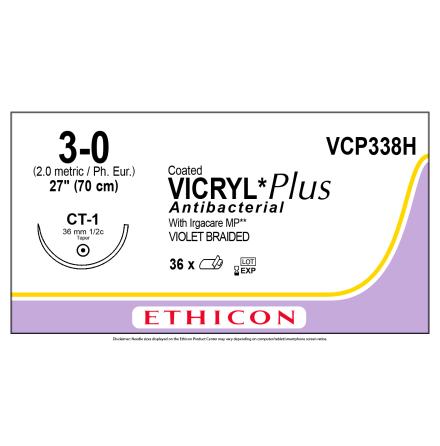 Vicryl Plus 3/0 CT-1 70cm VCP338H