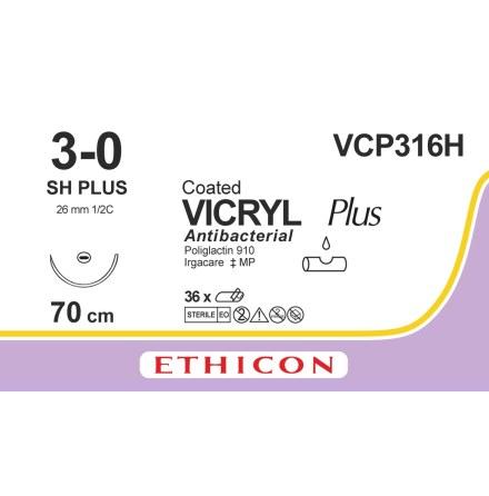 Vicryl Plus 3/0 SH 70cm VCP316H