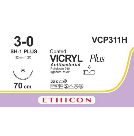 Vicryl Plus 3/0 SH-1 70cm VCP311H