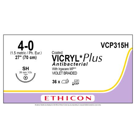 Vicryl Plus 4/0 SH 70cm VCP315H