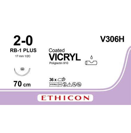 Vicryl 2/0 RB-1 70cm V306H