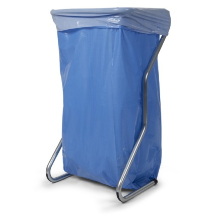 Sopsäck blå/vit 125L /80